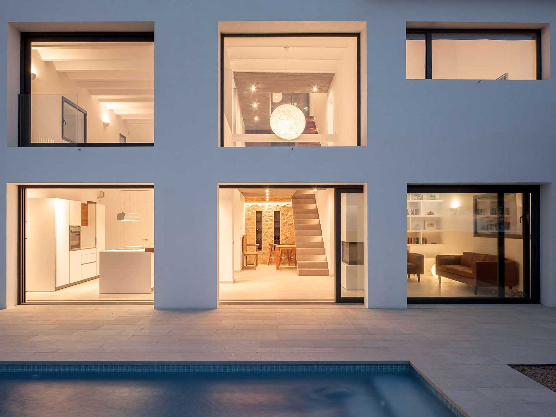 Finestres alumini casa unifamiliar