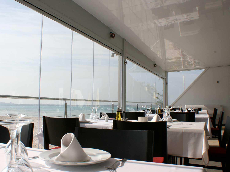 Tancaments de terrassa de vidre per restaurant