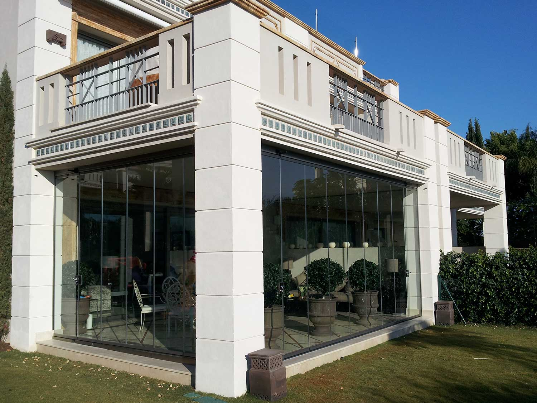 Tancaments de terrassa de vidre casa unifamiliar