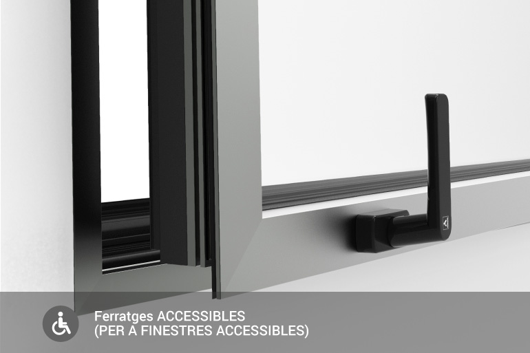 Ferratges accessibles (per a finestres accessibles)