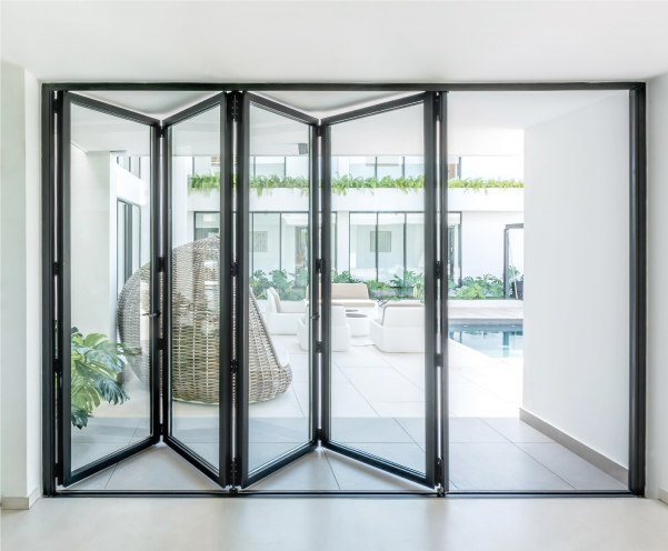 porte pliante aluminium
